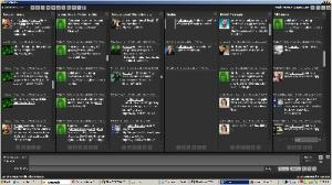 tweetdeck turns green as Mousavi's support colours twitter