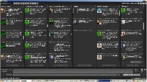 tweetdeck turns green as Mousavi's support colours twitter