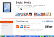 Global social media topic page for Klout