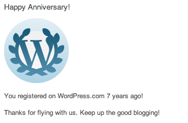 Happy Anniversary to me